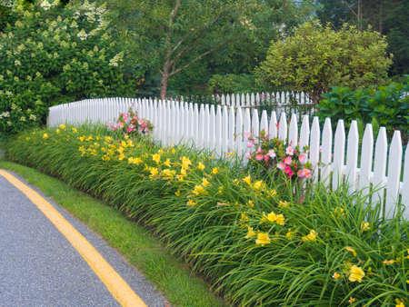 White picket fence Reklamní fotografie
