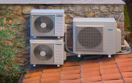 Heating and air conditioning inverter heat pumps photo