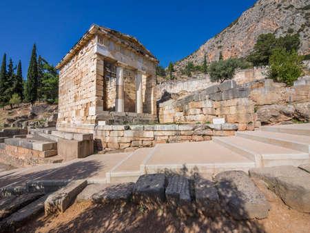 thesaurus: Treasury temple at Delphi oracle, Greece