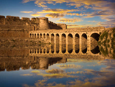 peloponnese: The Methoni Venetian Fortress in the Peloponnese, Messenia, Greece Editorial
