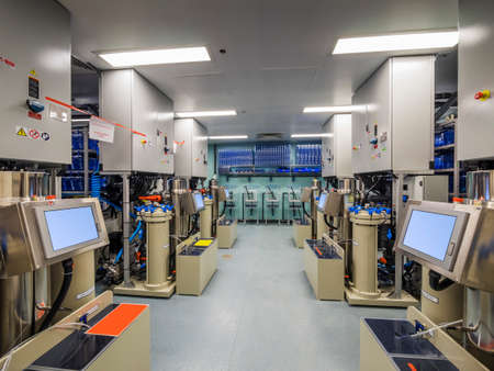 cancer research: Medical biology cancer research laboratory interior
