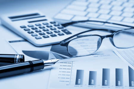 information analysis: Financial accounting Stock Photo