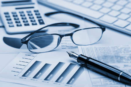 financial analysis: Financial accounting Stock Photo