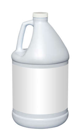 to white: White gallon plastic jug, isolated with clipping path Stock Photo