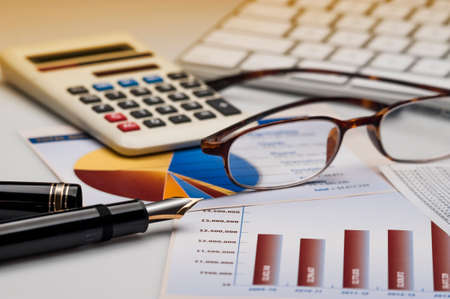 taxes budgeting: Financial accounting stock and market graphs analysis
