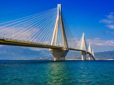 suspension bridge Rio - Antirio near Patra, Greece
