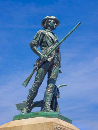 statue: Minuteman statue Concord MA. USA