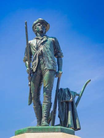 ma: Minuteman statue Concord MA. USA