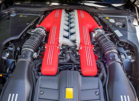 injection valve: V12 exotic car engine