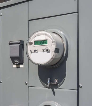 grid: Smart electricity meter Stock Photo