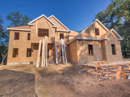 New house exterior construction Stock Photo
