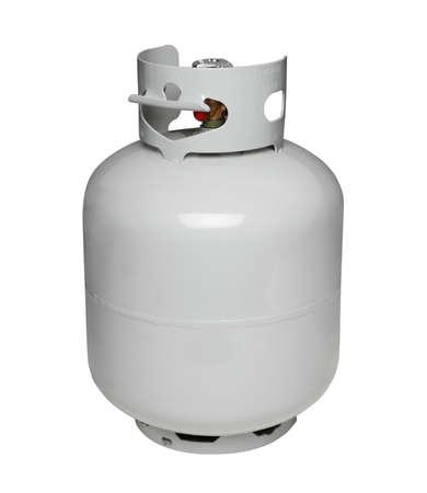 Propane gas cylinder, isolated on white