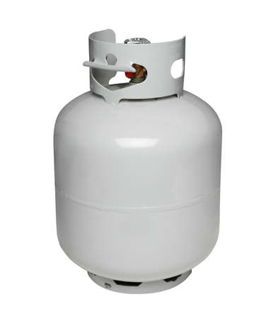 empty tank: Propane gas cylinder, isolated on white