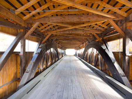 country road: Covered bridge interior