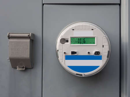 readout: Smart electricity meter Stock Photo