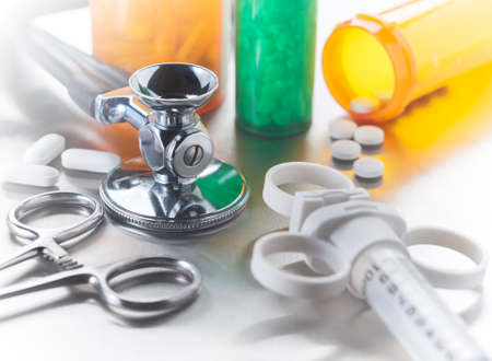 hospitalized: Medical tools used by doctors and nurses in the care of hospitalized patients