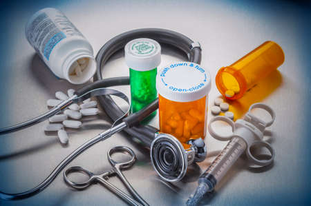 Medical tools used by doctors and nurses in the care of hospitalized patients