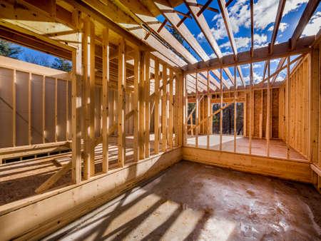 New house interior construction Standard-Bild
