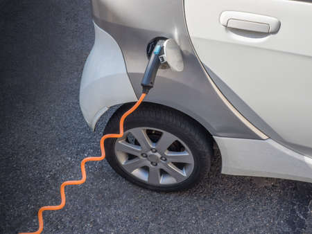 electric station: Electric car charging