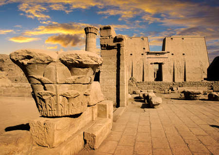 Tempel van Edfu, Egypte Stockfoto - 70178182