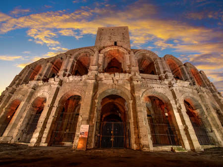 arles: Arena and Roman Amphitheatre, Arles, Provence, France Stock Photo