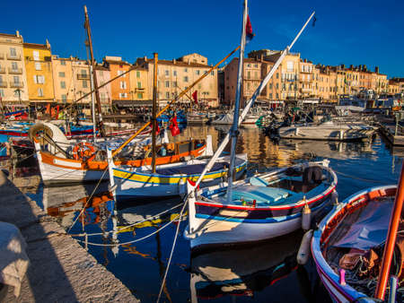 saint tropez: Saint Tropez harbor, the jet setting town of the French Riviera made famous by Brigitte Bardot.