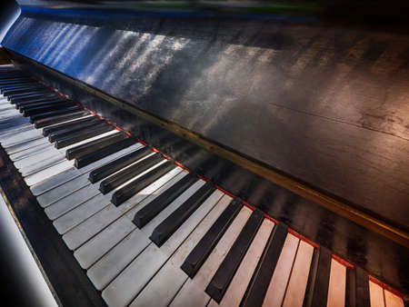 Antiek pianotoetsenbord
