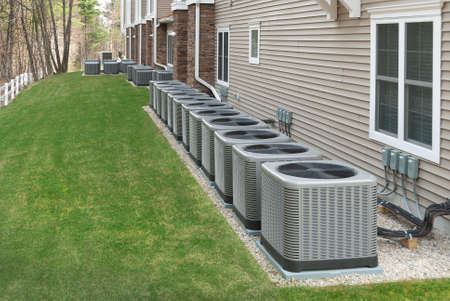 Outdoor air conditioning and heat pump unit