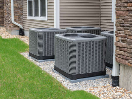 Outdoor air conditioning and heat pump units Reklamní fotografie
