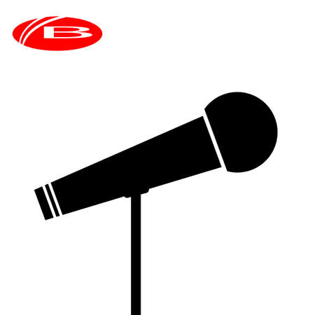 Microphone Icon , audio, vocal musical instrument vector illustrator 向量圖像