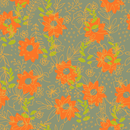 patter: Retro floral seamless patter