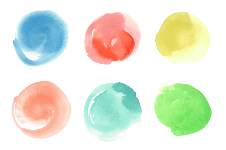 Vector set of watercolor spots