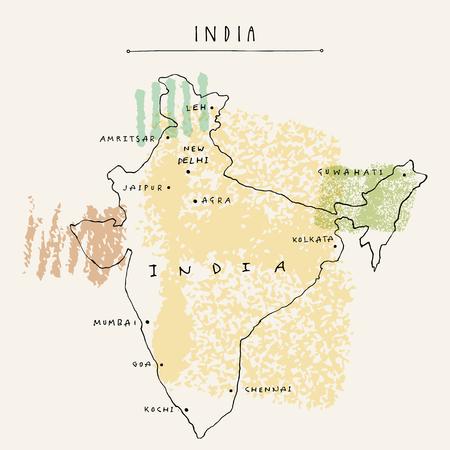 Cartina Muta India Da Stampare.Vettoriale Mappa Della Citta Di Delhi India In Bianco E Nero Illustrazione Vettoriale Cartina Muta Image 92812020