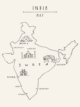 Map of India icon.