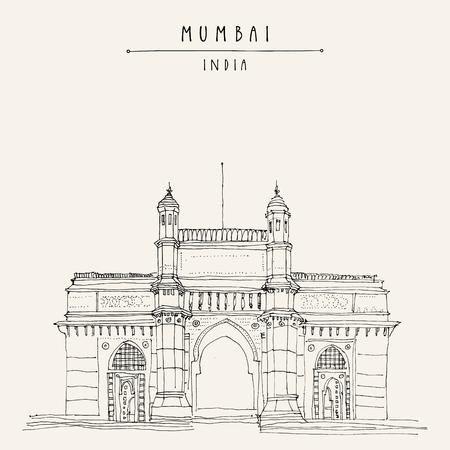 Tourist attraction in India icon. Çizim