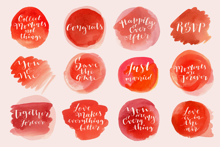 Watercolor love and marriage lettering phrases quotes greetings watercolor love and marriage lettering phrases quotes greetings modern calligraphy bouncy hand m4hsunfo