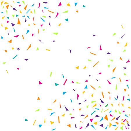 Confetti colorful party background. Diagonal confetti explosion design on white background. Vector illustration