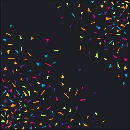 Confetti colorful party background. Diagonal confetti explosion design on black background. Vector illustration