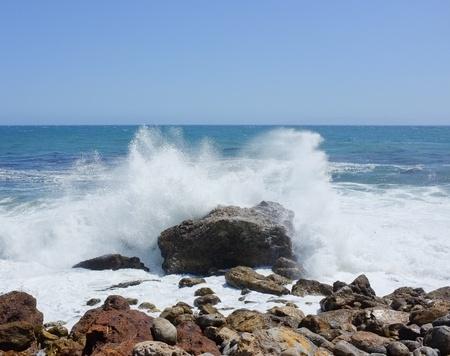 crashing: Crashing waves on a rock