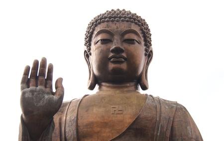 Buddha Statue at Po Lin Monastery in Hong Kong Banco de Imagens