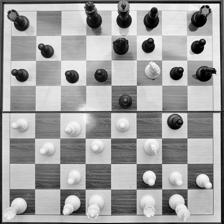 outwit: chess set on a board