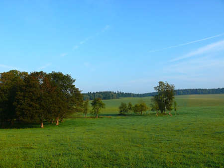 karlovy: view of the autumn landscape in the czech rebuplic