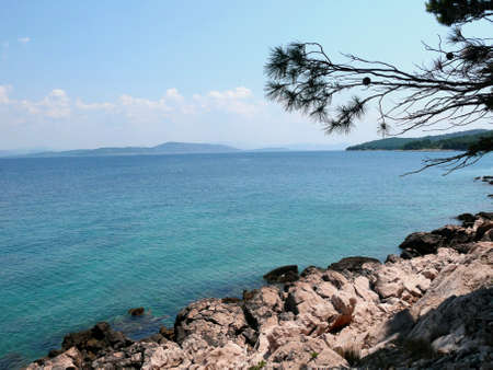 inflow: view of the landscape on the croatian coast Stock Photo