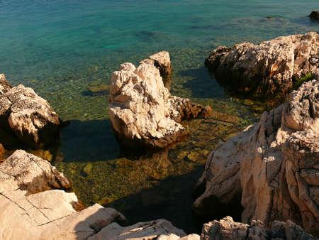 croatian: rocky croatian coast Stock Photo