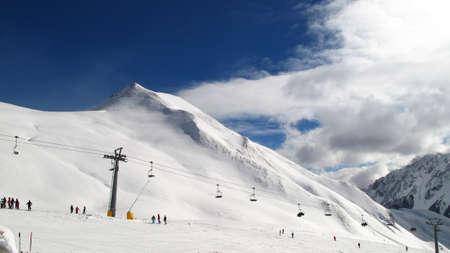 ski slopes: piste da sci in Svizzera Archivio Fotografico