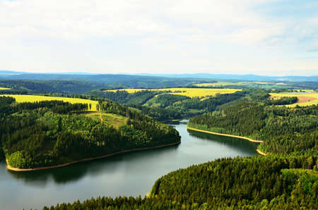 carlsbad: Dam Horka Carlsbad region in Czech republic