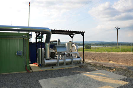 the biogas plant green energy  photo