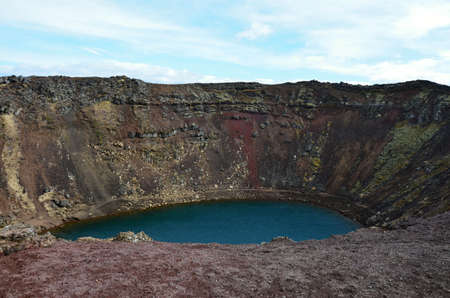 Kerid volcanic crater in Iceland Stock Photo - 22348281