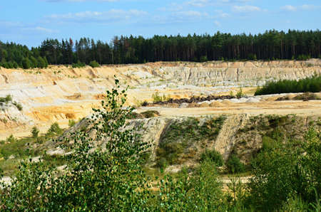 sand quarry: sand quarry in Big Luh Karlovy Vary region Czech republic