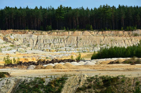 karlovy: sand quarry in Big Luh Karlovy Vary region Czech republic